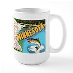 1940's Minnesota Map Large Mug