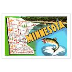 1940's Minnesota Map Large Poster