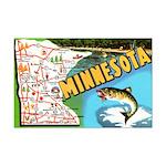 1940's Minnesota Map Mini Poster Print