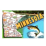 1940's Minnesota Map Postcards (Package of 8)