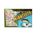 1940's Minnesota Map Rectangle Magnet