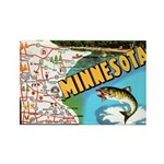 1940's Minnesota Map Rectangle Magnet (10 pack)