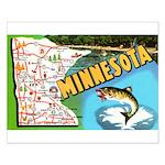 1940's Minnesota Map Small Poster