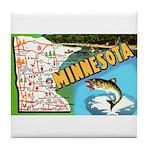 1940's Minnesota Map Tile Coaster