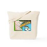 1940's Minnesota Map Tote Bag