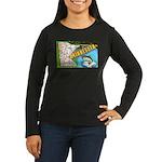 1940's Minnesota Women's Long Sleeve Dark T-Shirt