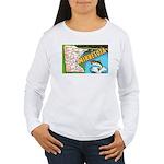 1940's Minnesota Map Women's Long Sleeve T-Shirt