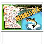 1940's Minnesota Map Yard Sign