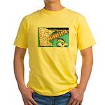 1940's Minnesota Map Yellow T-Shirt
