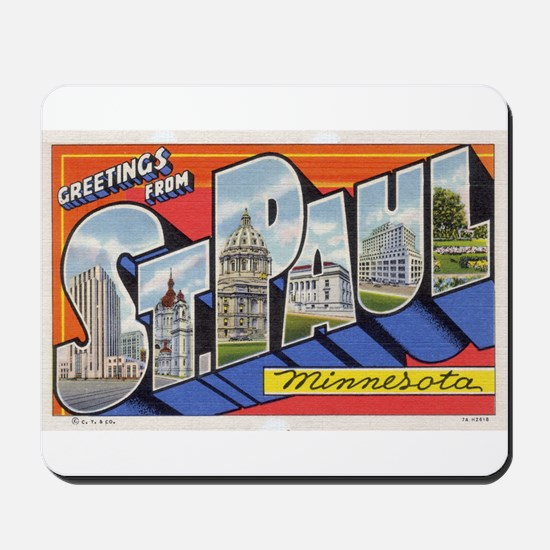 Greetings from St. Paul Mousepad