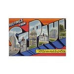 Greetings from St. Paul Rectangle Magnet (100 pack