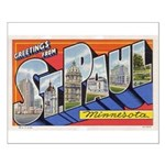 Greetings from St. Paul Small Poster