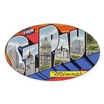 Greetings from St. Paul Oval Sticker