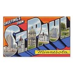 Greetings from St. Paul Rectangle Sticker