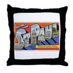 Greetings from St. Paul Throw Pillow