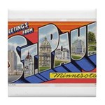 Greetings from St. Paul Tile Coaster