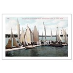1906 Dellwood Club House Dock Large Poster