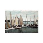 1906 Dellwood Club House Dock Rectangle Magnet (10