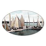 1906 Dellwood Club House Dock Oval Sticker (50 pk)