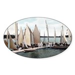 1906 Dellwood Club House Dock Oval Sticker