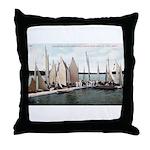 1906 Dellwood Club House Dock Throw Pillow