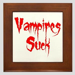 Vampires Suck Framed Tile