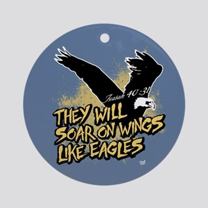 Soar on Wings like Eagles Ornament (Round)