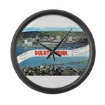 Greetings from Duluth Large Wall Clock