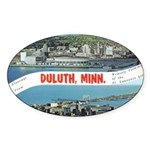 Greetings from Duluth Oval Sticker (50 pk)
