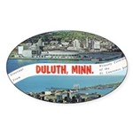 Greetings from Duluth Oval Sticker