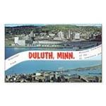 Greetings from Duluth Rectangle Sticker