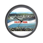 Greetings from Duluth Wall Clock