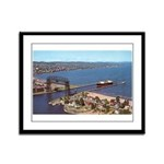 Duluth Harbor Framed Panel Print