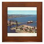 Duluth Harbor Framed Tile