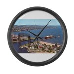 Duluth Harbor Large Wall Clock