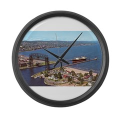 Duluth Harbor Large Wall Clock