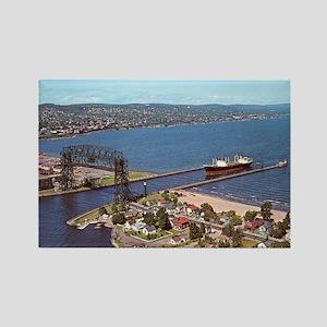 Duluth Harbor Rectangle Magnet