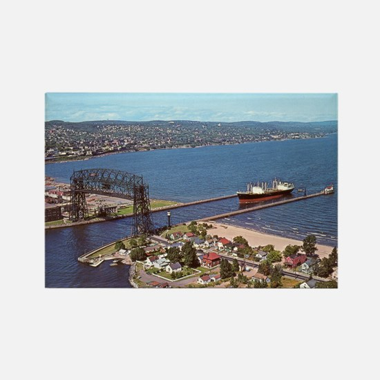 Duluth Harbor Rectangle Magnet