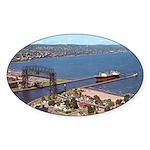 Duluth Harbor Oval Sticker (10 pk)