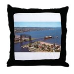 Duluth Harbor Throw Pillow