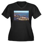 Duluth Harbor Women's Plus Size V-Neck Dark T-Shir