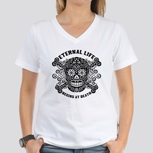 Eternal Life begins Women's V-Neck T-Shirt