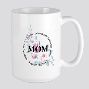 Mom Floral Circle Design Mugs