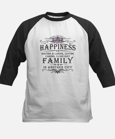 Happiness Family Crest Kids Baseball Jersey