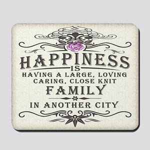 Happiness Family Crest Mousepad