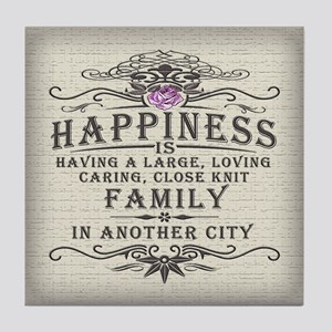 Happiness Family Crest Tile Coaster