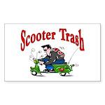 Scooter Trash Rectangle Sticker 10 pk)