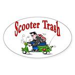 Scooter Trash Oval Sticker