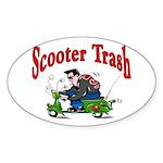 Scooter Trash Oval Sticker (10 pk)