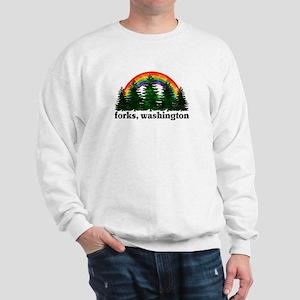 Forks, Washington Vintage Rai Sweatshirt